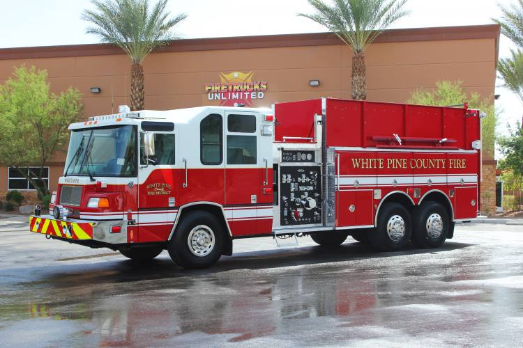White Pine Pierce Quantum Pumper Tanker Refurbishment After