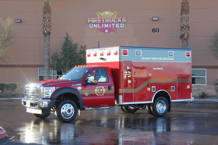 Pleasant Grove FD Ambulance Remount After