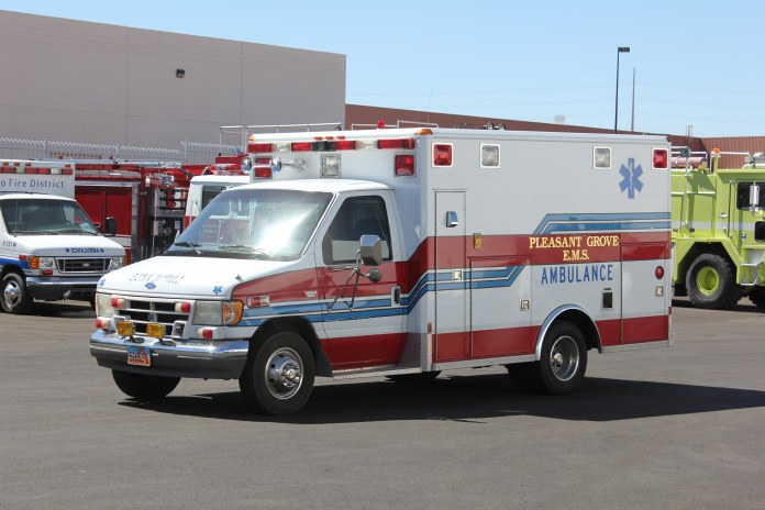 Pleasant Grove FD Ambulance Remount Before