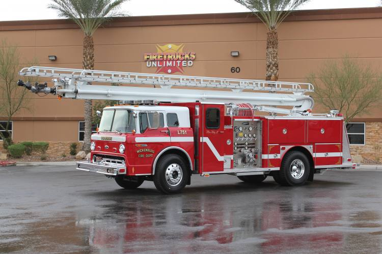 Wickenburg FD 1986 E-One Aerial Refurbishment After