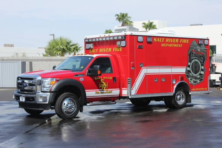Salt River Fire Department Ambulance Remount #1334 After