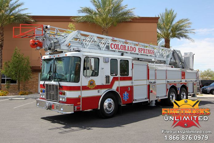 Colorado Springs Fire Department - 1999 HME Aerial Refurbishment #1175 After