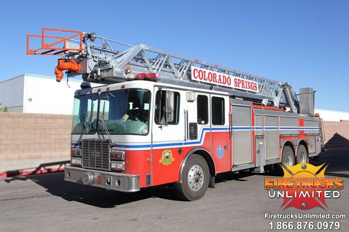 Colorado Springs Fire Department - 1999 HME Aerial Refurbishment #1175 Before