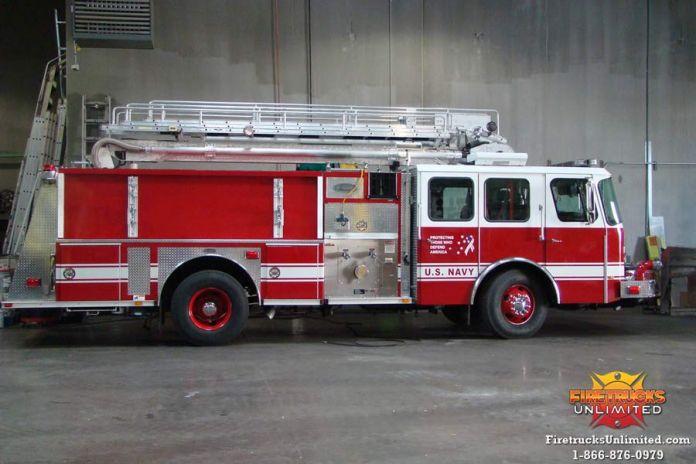 Seagrave Fire Apparatus >> U.S. Navy - Pierce Telesquirt Refurbishment - Firetrucks ...