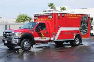 Salt River Fire Department ambulance remount #1334