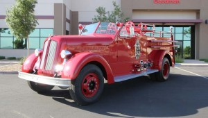 A refurbished 1950 seagrave fire truck