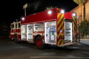 The lighting capabilities of a KME Pumper