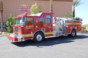 A Pierce Firetruck we re-painted and performed body work on