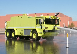 We delivered one refurbished 1990 Oshkosh T-3000 crash truck to First Support Services