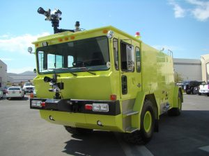 We delivered a refurbished 1985 Oshkosh T-3000 Crash Truck to First Support Services