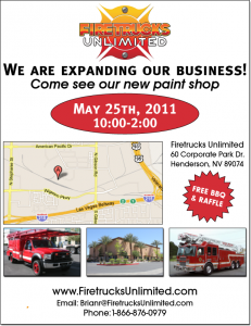A flyer for our new Truck Equipment and Paint and Body Shop in Las Vegas Nevada