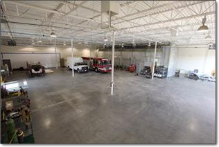 Firetrucks Unlimited PAitn and Body Shop Interior