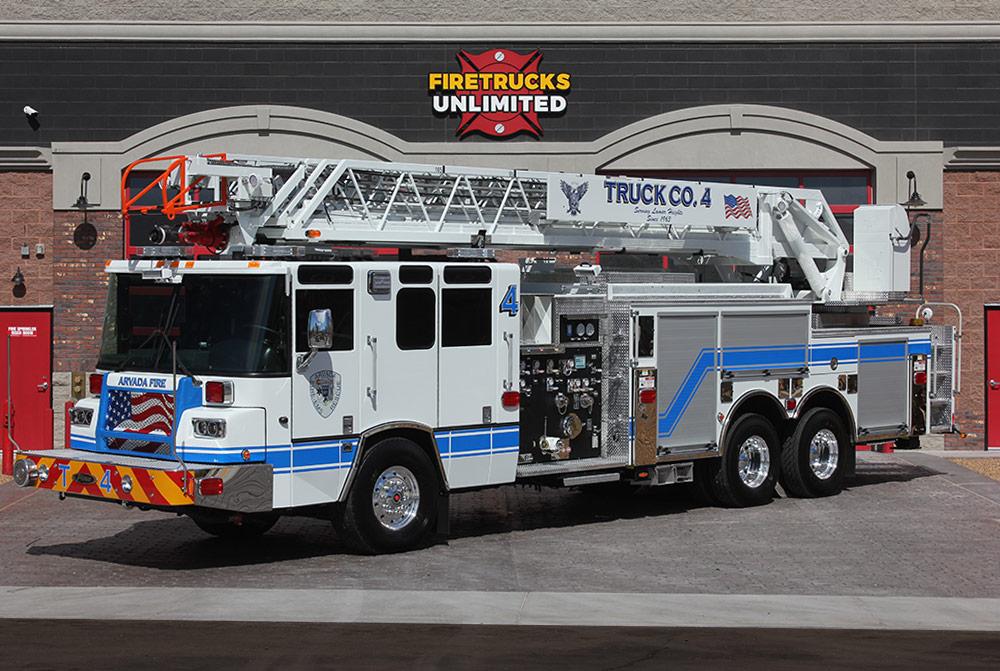Refurbished Aerial Fire Trucks