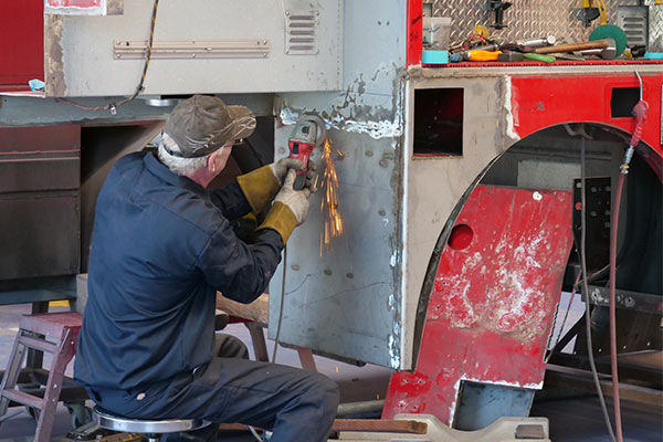 Fire Truck Accident Collision Repair