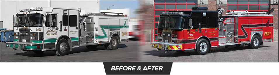 Fire Truck Refurbishment Before and After
