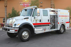International 4x4 Type 4 Fire Truck