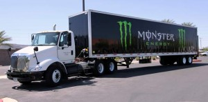 Paint/Decals on Monster Energy Drink Trailer