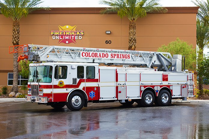 recent delivery colorado springs fd hme aerial refurbishment firetrucks unlimited. Black Bedroom Furniture Sets. Home Design Ideas