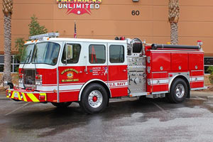US Navy E-One Pumper Ultra High Pressure Conversion